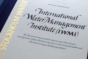 kalligrafi. Stockholm Water Prize diplom, 2014