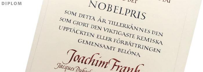kalligrafi, nobelpris, kemi 2017