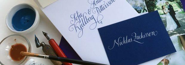 kalligrafi, placeringskort