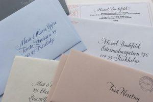 handskrivna adresser