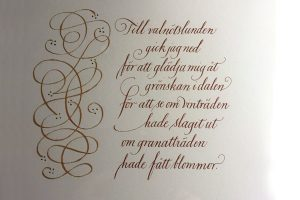 kalligrafi, höga visan