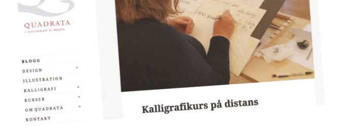 distanskurs i kalligrafi