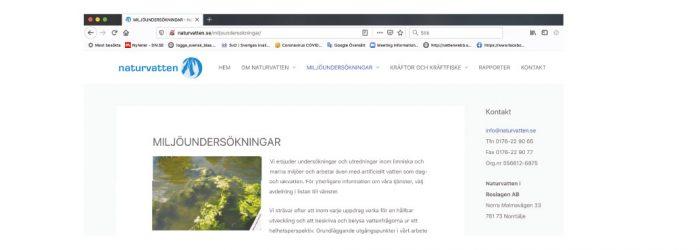 bild på naturvatten hemsida