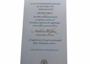 Nobelprisdiplom 2020